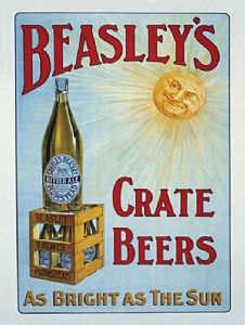 Beasley's Crate Beers large steel wall sign    (og 4030)